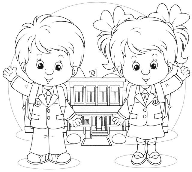 Прикольные рисунок скоро в школу карандашом (19)