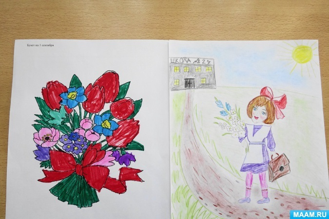 Прикольные рисунок скоро в школу карандашом (4)