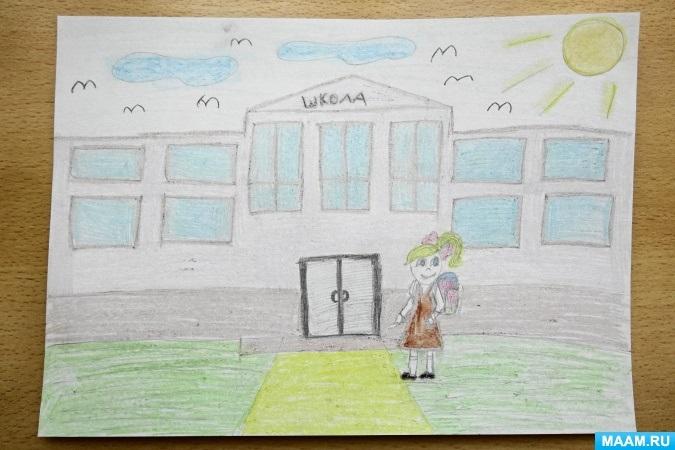 Прикольные рисунок скоро в школу карандашом (5)