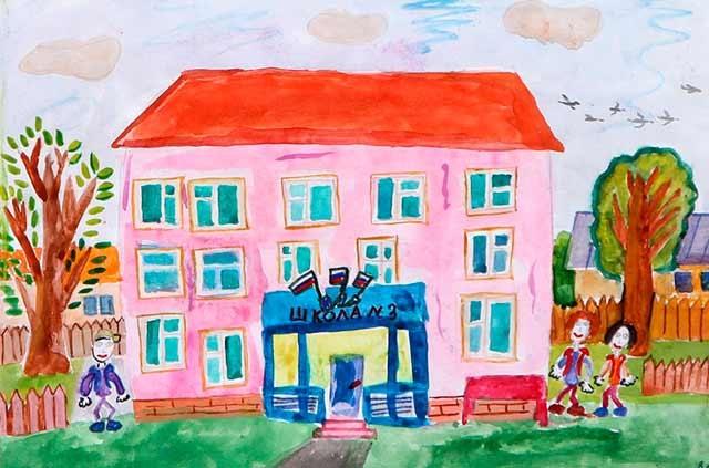 Прикольные рисунок скоро в школу карандашом (9)