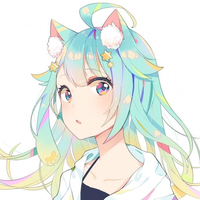 Аниме девушки с разноцветными волосами - аватарки 2021 год (16)