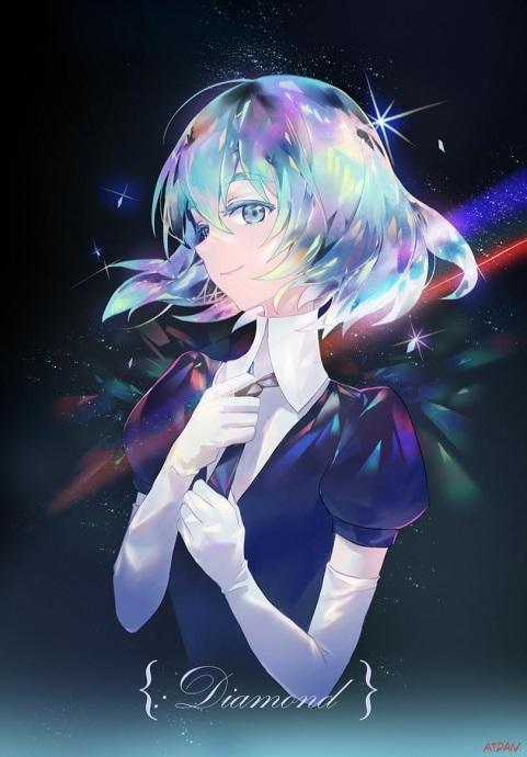 Аниме девушки с разноцветными волосами - аватарки 2021 год (21)