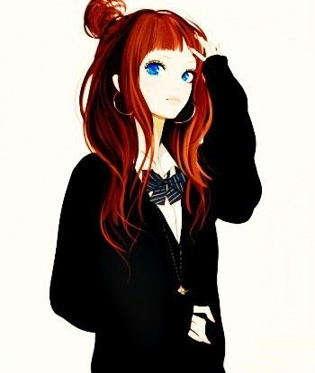 Аниме девушки с разноцветными волосами - аватарки 2021 год (8)