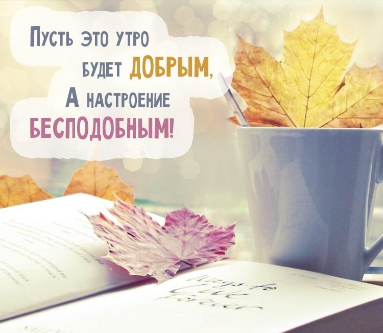 Доброе утро осеннее настроение - подборка открыток (21)
