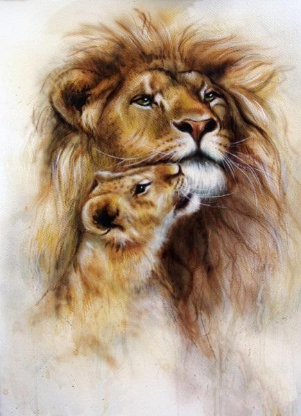 Львица целует льва фото красивые (1)