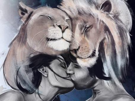 Львица целует льва фото красивые (5)