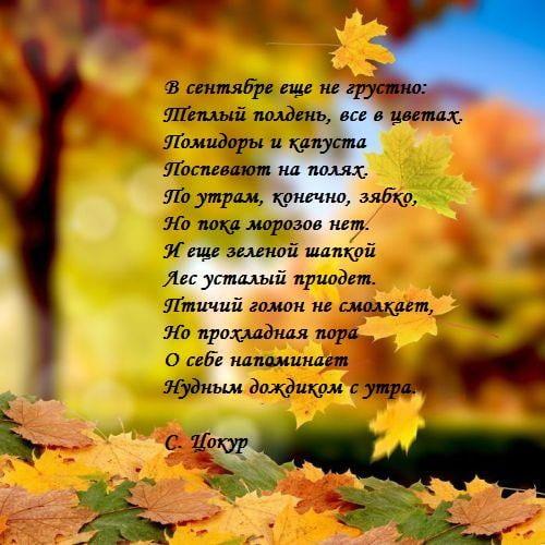 Сентябрь удивительные картинки со стихами - подборка (11)
