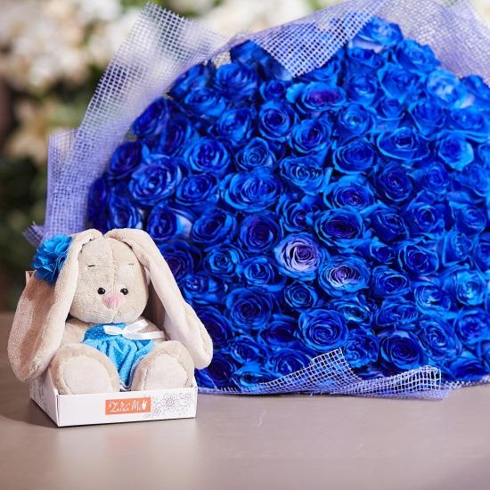 С Днем Рождения синие розы - подборка открыток (10)