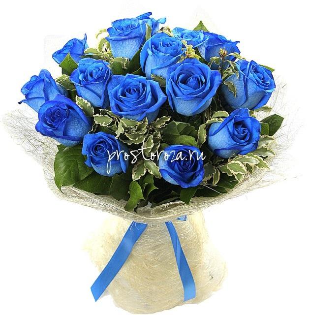 С Днем Рождения синие розы - подборка открыток (11)