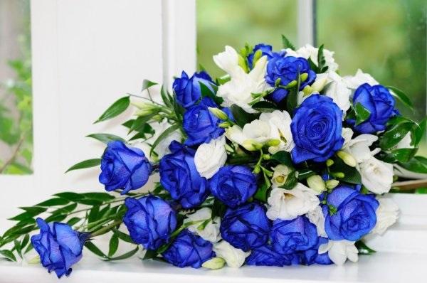 С Днем Рождения синие розы - подборка открыток (24)