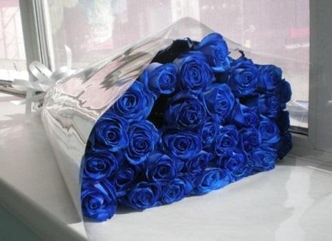 С Днем Рождения синие розы - подборка открыток (4)