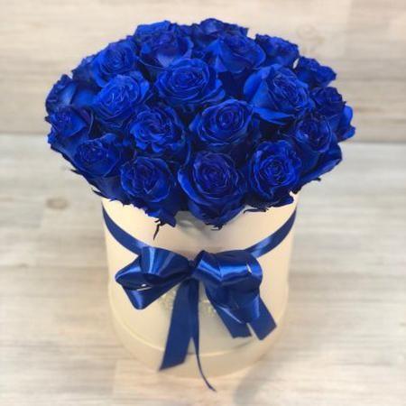 С Днем Рождения синие розы - подборка открыток (5)