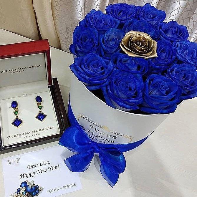 С Днем Рождения синие розы - подборка открыток (7)