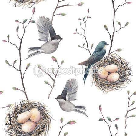 Гнездо на дереве - красивые рисунки для детей (1)