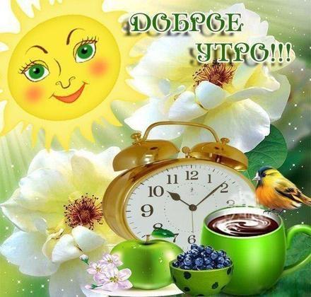 Доброе утро с солнцем картинки и открытки за 2021 год (24)