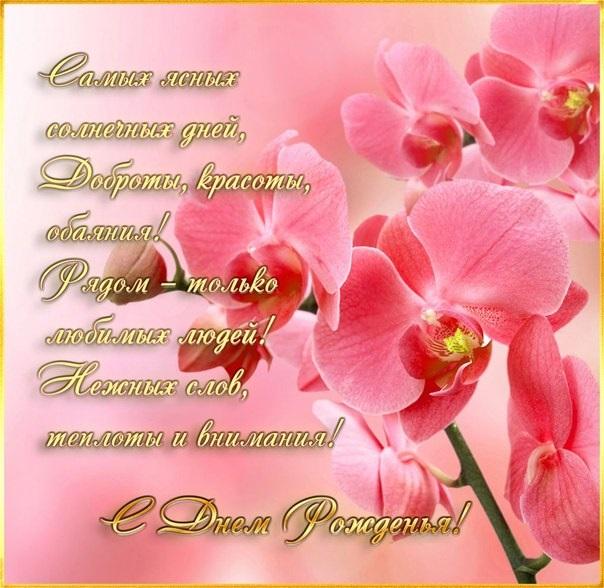 Орхидеи с днем рождения фото и открытки (6)