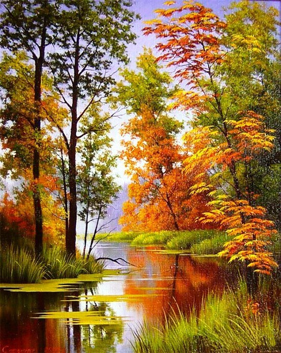 Осенние пейзажи 2021 года - большая фото подборка (26)