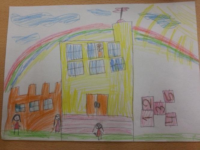 Рисунок Моя школа - как нарисовать, примеры (1)