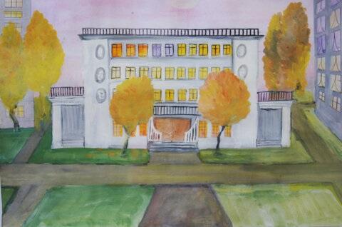 Рисунок Моя школа - как нарисовать, примеры (12)