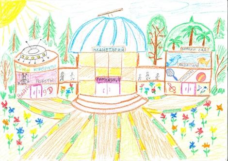 Рисунок Моя школа - как нарисовать, примеры (2)