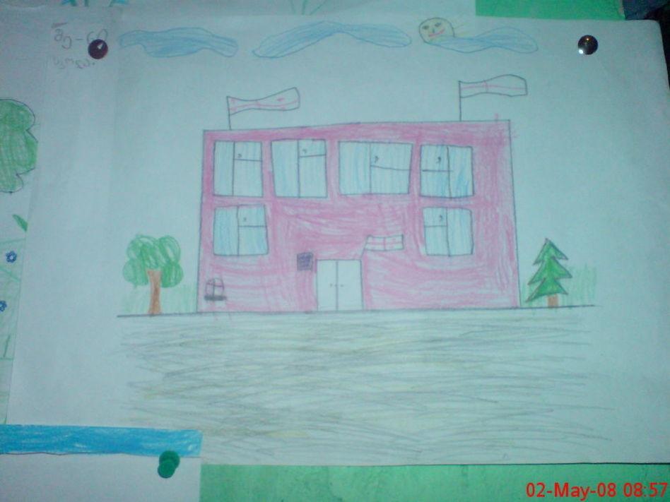Рисунок Моя школа - как нарисовать, примеры (23)