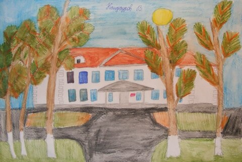 Рисунок Моя школа - как нарисовать, примеры (9)