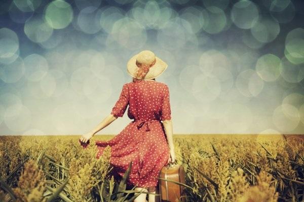 Рыжая девушка и осень - красивые картинки за 2021 год (1)