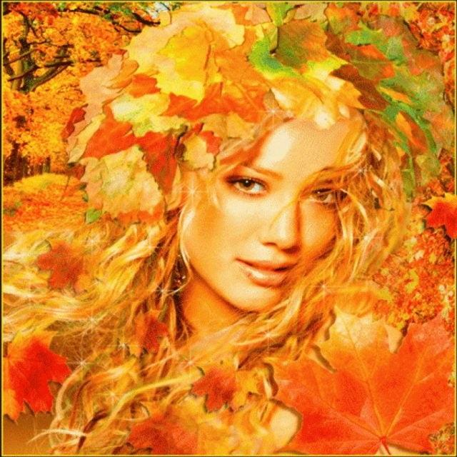 Рыжая девушка и осень - красивые картинки за 2021 год (16)