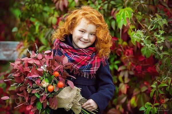 Рыжая девушка и осень - красивые картинки за 2021 год (18)