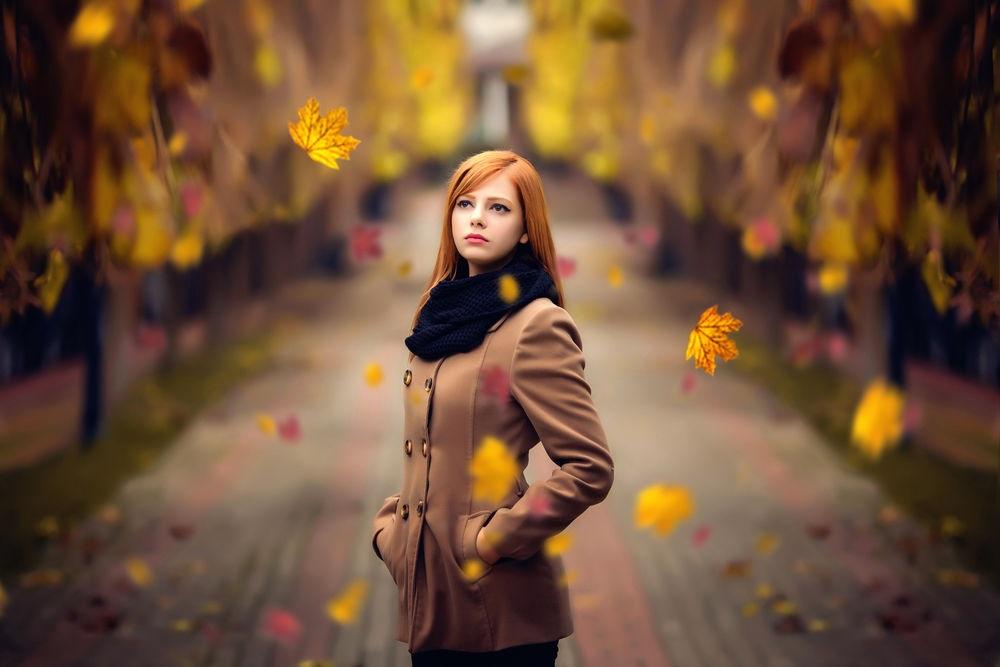 Рыжая девушка и осень - красивые картинки за 2021 год (20)