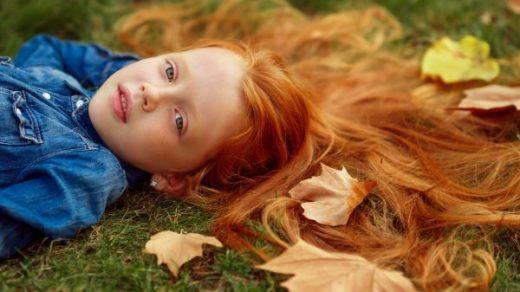 Рыжая девушка и осень   красивые картинки за 2021 год (28)