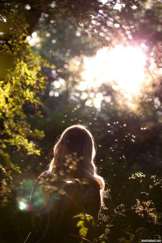 Девушка в лесу спиной фото и картинки - подборка (12)