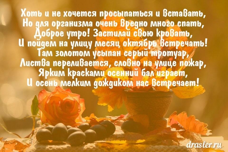 Доброе утро октября осенью - самые милые открытки (11)