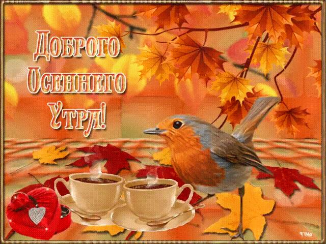 Доброе утро октября осенью - самые милые открытки (12)