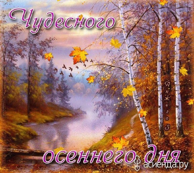 Доброе утро октября осенью - самые милые открытки (14)