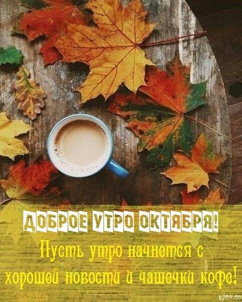 Доброе утро октября осенью - самые милые открытки (15)