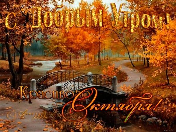 Доброе утро октября осенью - самые милые открытки (16)