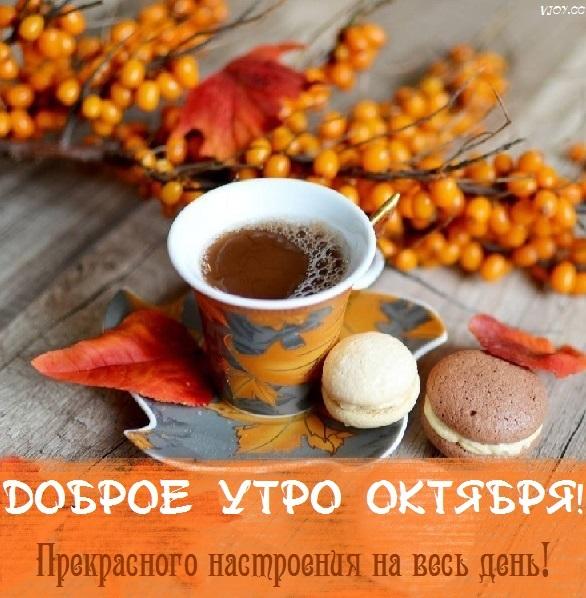 Доброе утро октября осенью - самые милые открытки (24)