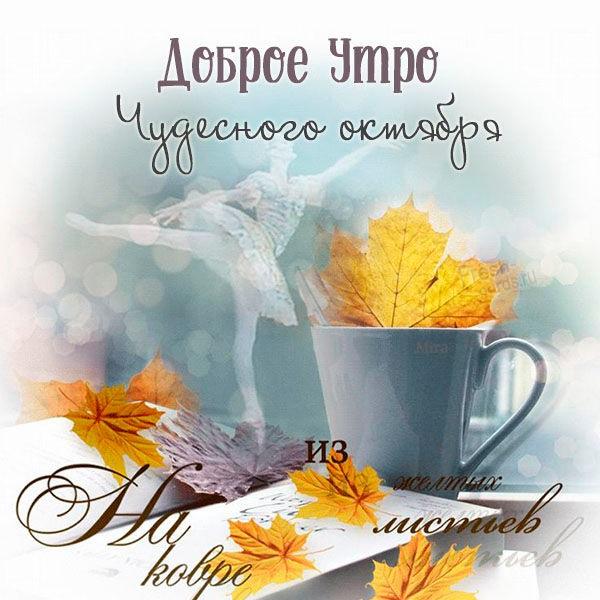 Доброе утро октября осенью - самые милые открытки (3)