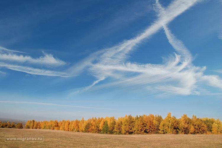 Картинки осеннего неба с облаками для детей (13)