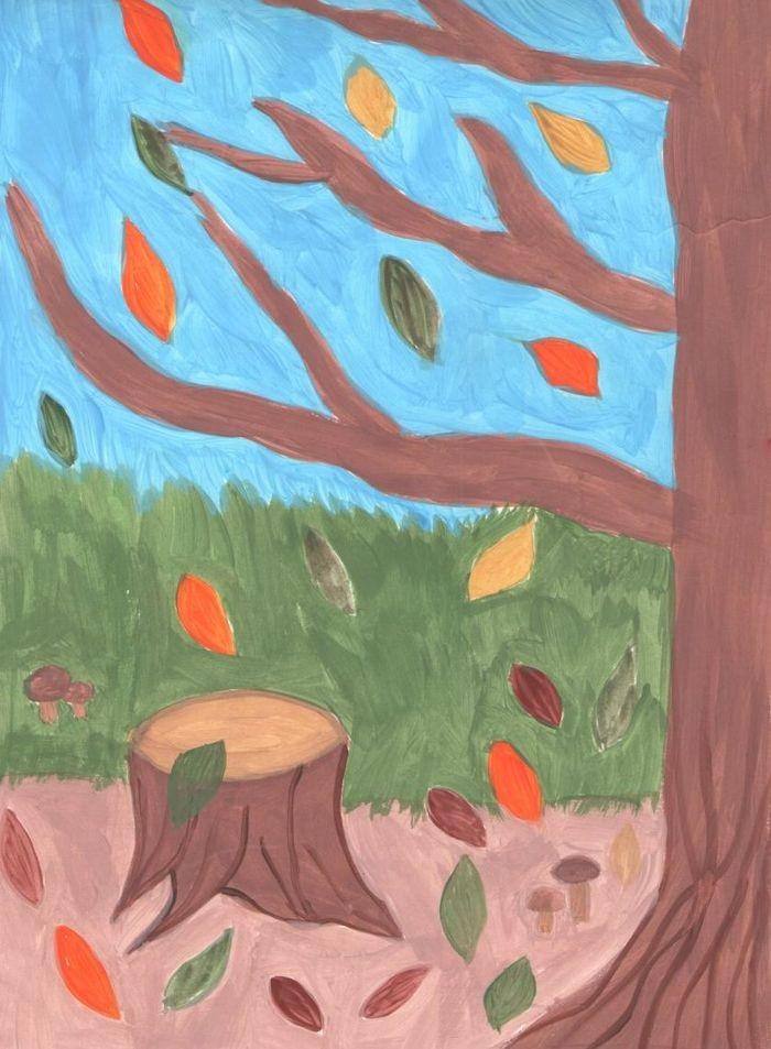 Красивые картинки осенний листопад для детей (18)