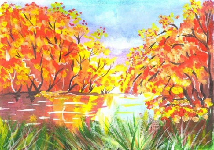Красивые картинки осенний листопад для детей (20)