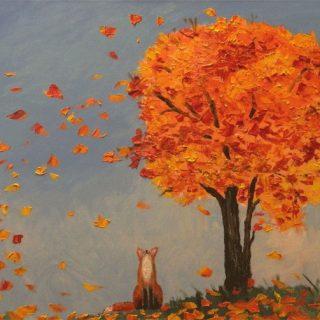 Красивые картинки осенний листопад для детей (21)