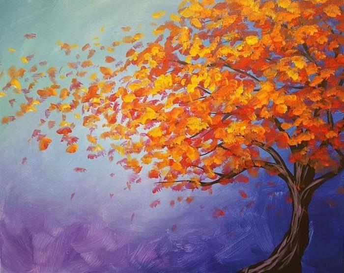 Красивые картинки осенний листопад для детей (23)
