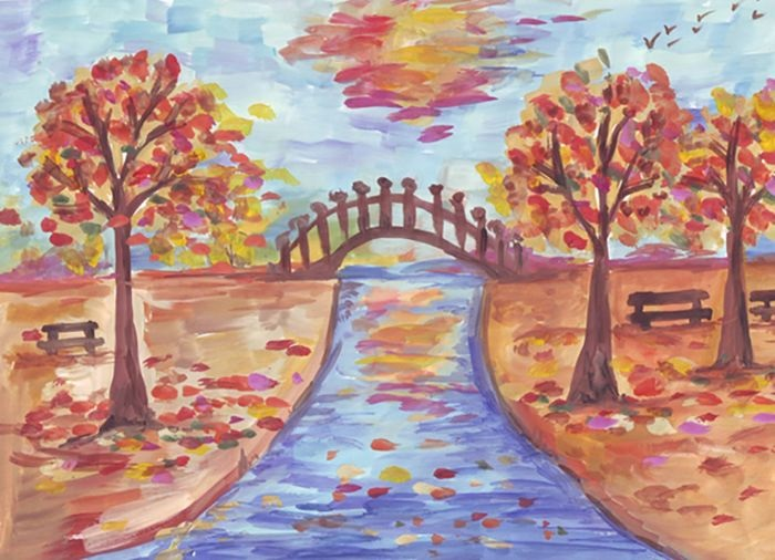 Красивые картинки осенний листопад для детей (3)
