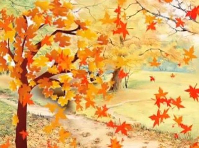 Красивые картинки осенний листопад для детей (9)