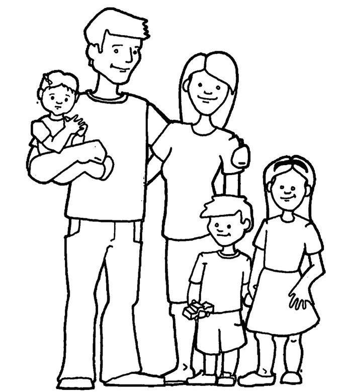 Моя семья за столом рисунок для детей - подборка идей (11)