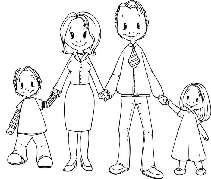 Моя семья за столом рисунок для детей - подборка идей (22)