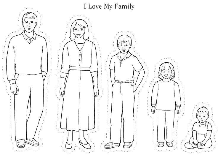 Моя семья за столом рисунок для детей - подборка идей (23)