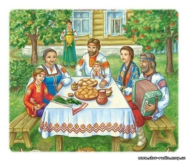 Моя семья за столом рисунок для детей - подборка идей (7)